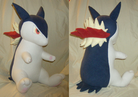 Comm: Typhlosion Plush 2.0 by xxtemporaryinsanity