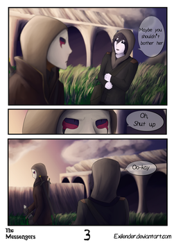 The Messengers pg 3 by Exilender