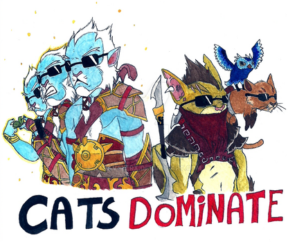 Cats DOMINATE by xtravelerX