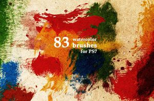 Free Watercolor Paint Brushes by Designslots