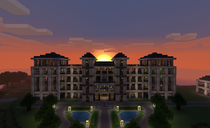Minecraft Builds - Hotel by TheM4cGodfather