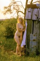 Shed with Nude Woman by rylstone