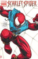 Scarlet Spider Sketch Cover by Sideways8Studios