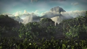 Mount Kinabalu WIP test01 by Andywong75