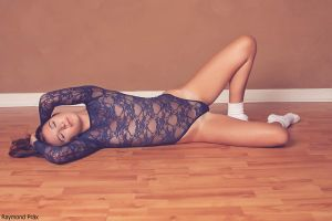 Alli in the AA Lace Bodysuit and Socks 08 by RaymondPrax