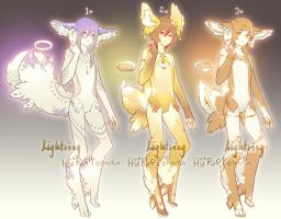 Auction : Lightring Species Set 3 [CLOSED] by HyRei