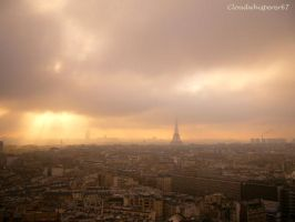 Paris in the fog --- Paris sous la brume by Cloudwhisperer67