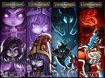 LoL - Bookmarks Set 4 by tenzeru-chan
