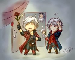 A rose with love by Setsuna-Yagami