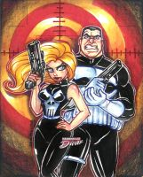 Lady punisher and punisher by mainasha