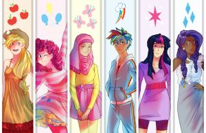 My Little Pony Gijinkas by RoughReaill