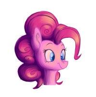 a dumb pink party horse by Swagliad