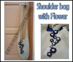 Shoulder Bag with Flower by snowny