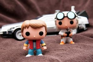 Back To The Future Pop Vinyls I by LDFranklin