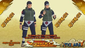 Naruto - Asuma PACK 1 FOR XPS by ASideOfChidori