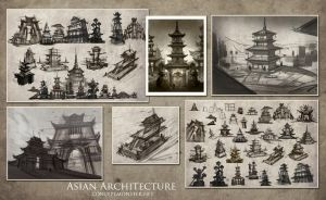Asian Architecture Comp by AlexRuizArt