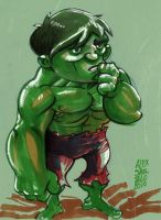 Hulk sketch by alexsantalo