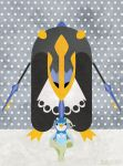 Empoleon and Piplup by m-dugarchomp