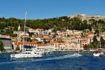 Sailing into Hvar Town by wildplaces