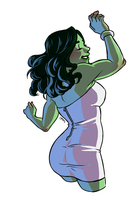 She-Hulk Dancing 2 by KittyCatKissu by cerebus873