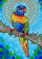 Loving Lorikeet by PaintMyWorldRainbow