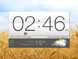 ZTE Blade 3 Clock Weather HD for xwidget (FIXED) by jimking