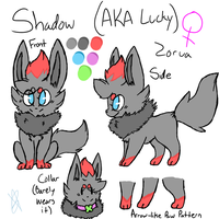Shadow The Zorua Reference Sheet .:Gift:. by Memaiva
