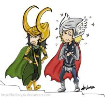 Loki and Thor by LixiLoayza
