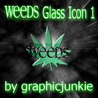 Weeds TV Glass Icon 1 by graphicjunkie