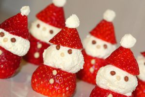 Strawberry Santas by mikedaws