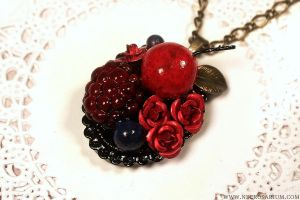 Berry Tart Necklace by Necrosarium