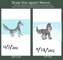 redraw meme: Catching Snowflakes by Who-Butt