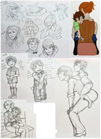 C-G: Rudy and Russet Sketch Dump by chiyokins