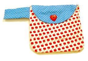 Apple Dotted Love Handbag by deconstructedstars