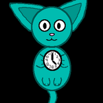 Cat Clock GIF by PineMist79