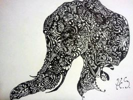 tribal Elephant by StarvingArtlst