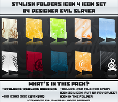 Stylish Folders 4 Icon Set by Evil-Slayer