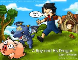 A Boy and His Dragon Pt.3 by kynim