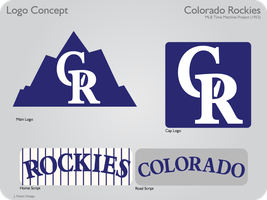 Colorado Rockies 1953 Logos by JimmyNutini