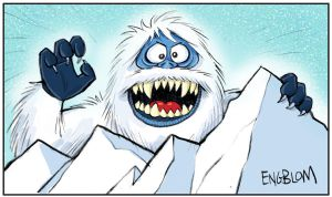 The Abominable Snow Monster (a.k.a. The Bumble) by mengblom