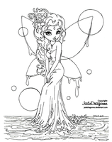 Water Fairy - Lineart by JadeDragonne