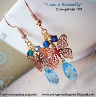 I am a Butterfly Earrings by littleorangetree