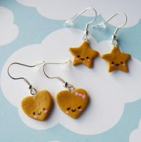 Happy Sugar Cookie Earrings by AsianBunni