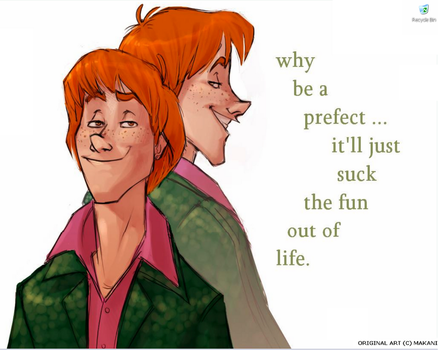 fred and george by LuminusStar