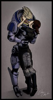 Mass Effect - One turian kind of woman by ninjapoupon