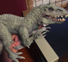 Indominus Rex repaint WIP by Arrancarfighter