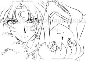 Brothers 2 - line art by MistyQue