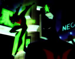 Batman beyond tas  glamour glow green by bat123spider