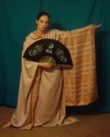 Copper Zari Kimono 6 by HiddenYume-stock