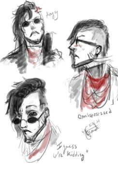 Ka Aburame's faces by MlleChouette